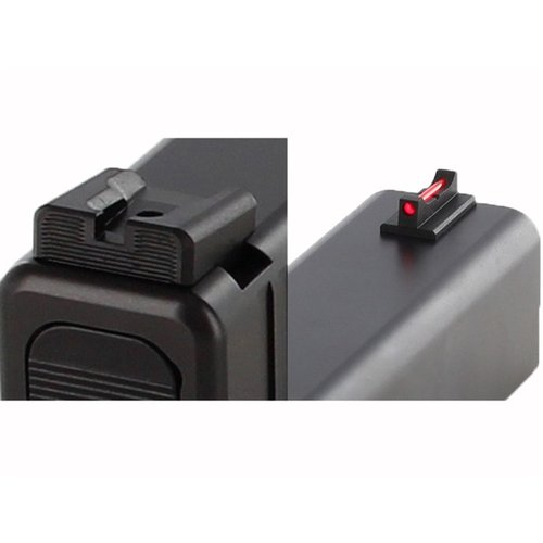 Glock® Sight Set, Black Rear, Fiber Optic Front