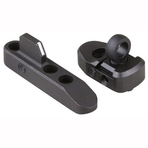 Marlin 1895 Ghost Ring Lever Rail Sight Set White