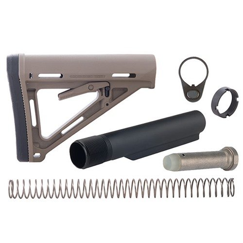 AR-15 MOE Stock Assy Collapsible Mil-Spec FDE