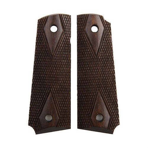 1911 Dark Stain Double Diamond Replica Grips