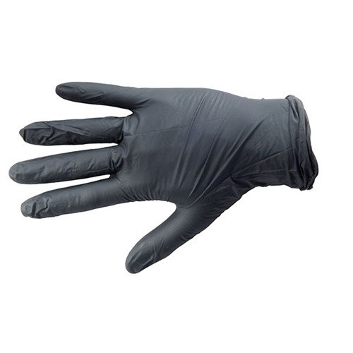 Black Nitrile Medical Glove, Textured, Large