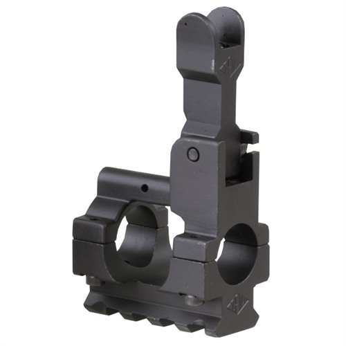 AR-15 Gas Block Front Sight w/Rail .750 Steel Black