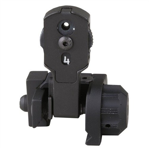 AR-15 Flip-Up Multiple Aperture MAD Rear Sight Black