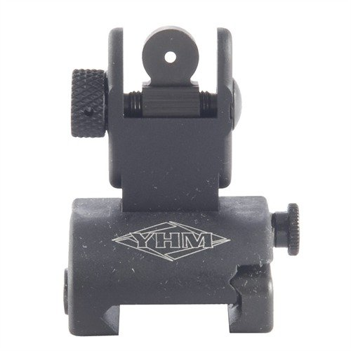 AR-15 Flip-Up Low Profile QDS Rear Sight Black