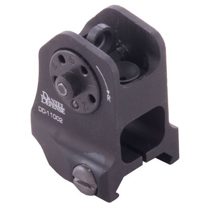 AR-15 Fixed Adjustable A1.5 Backup Rear Sight Black