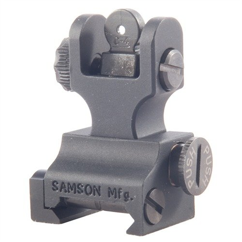 AR-15 Flip-Up Dual Aperture A2 Rear Sight Black
