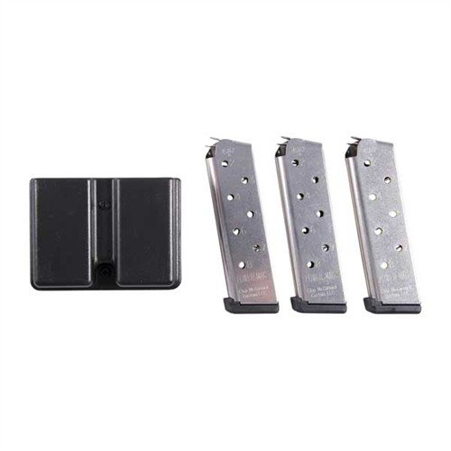 1911 8-Round SS Power Magazine, 3 Pack w/ Double Mag Pouch