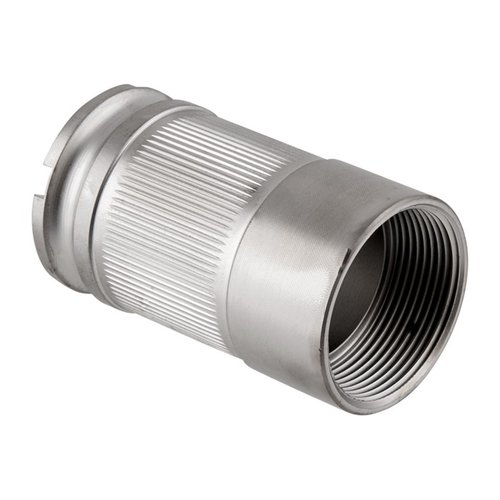 AR-15 Takedown Barrel Nut Stainless Steel Silver