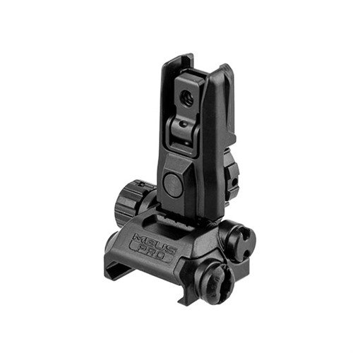 AR-15 Flip-Up Adjustable MBUS Pro LR Rear Sight Black
