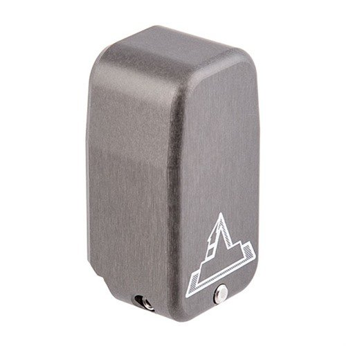 Firepower Base Pad for Glock 43 +2, Titanium Gray