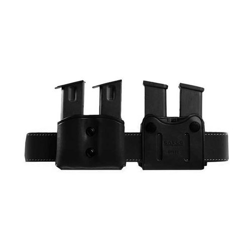 Double Mag Carrier 9mm Staggered Metal Mag-Black