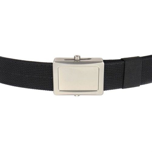 Aegis Belt Stainless Buckle Black Webbing Large