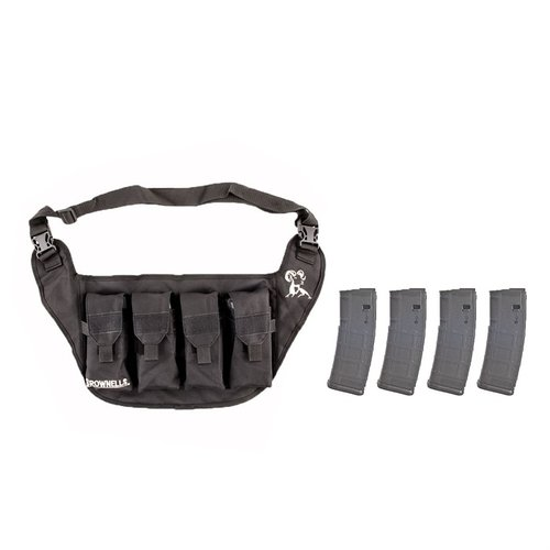Deluxe Magazine Pouch Black w/ 4-pk 30-RD PMAGs