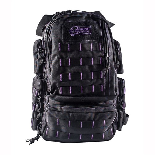 Mini Tobago Pack Black with Purple Stitching