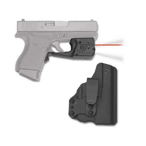 Glock 43 Laserguard Pro Red with Blade-Tech IWB Holster