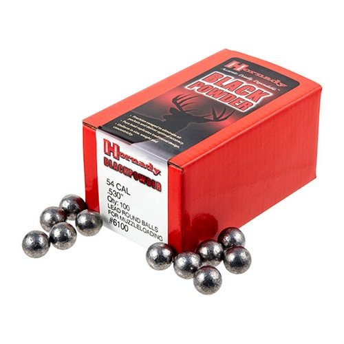 "54 Cal (.530"") Lead Round Ball 100/Box"