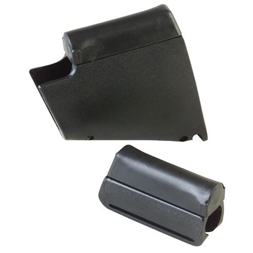 Raised Cheek Piece Black Plastic