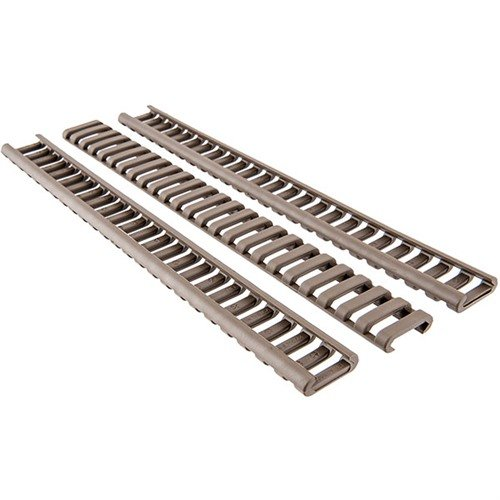 25 Slot Ladder LowPro Rail Cover Picatinny Polymer FDE