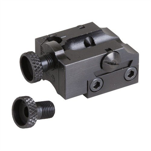 Rifle Adjustable Peep Rimfire Receiver Rear Sight Black
