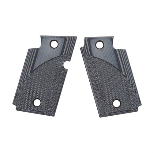 Sig 938 Gray/Black Checkered G-10 Grips
