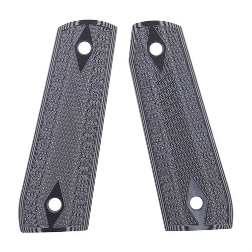 Ruger 22/45 Gray/Black Checkered G-10 Grips