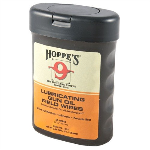 Lubricating Gun Oil Field Wipes (50 Wipes)