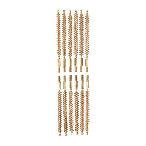 Dozen Pack Bronze Rifle Brushes, 20 cal 5-40