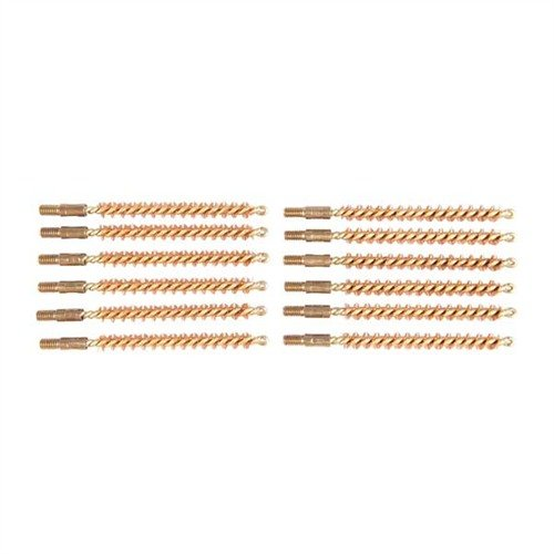 Dozen Pack Bronze Rifle Brushes, 22 cal 8-32