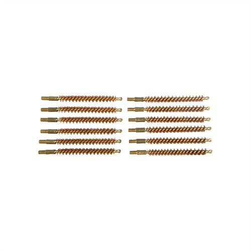 Dozen Pack Bronze Rifle Brushes, 25 cal 8-32