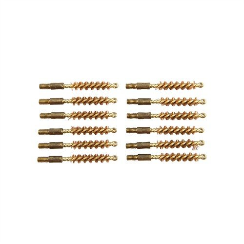 Dozen Pack Bronze Pistol Brushes, 22 cal