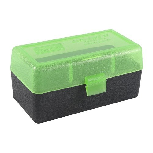 Ammo Boxes Rifle Green/Black 22 Benchrest Rem-353 Rem 50