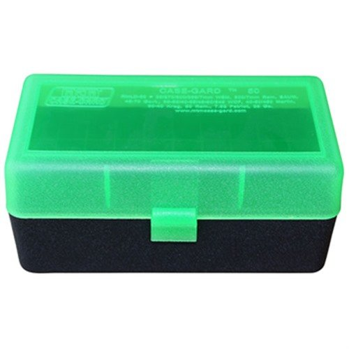 Ammo Boxes Rifle Green & Black 219 Zipper - 458 Socom 50