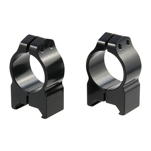 "1"" Medium Fixed Rings Gloss Black"