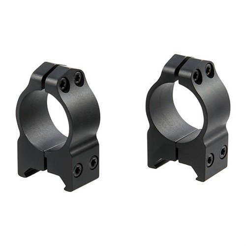 "1"" Medium Fixed Rings Matte Black"