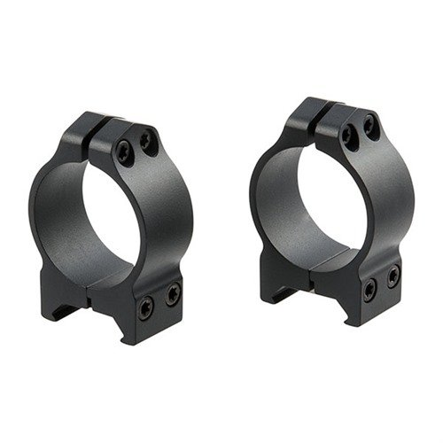 30mm Low Fixed Rings Matte Black