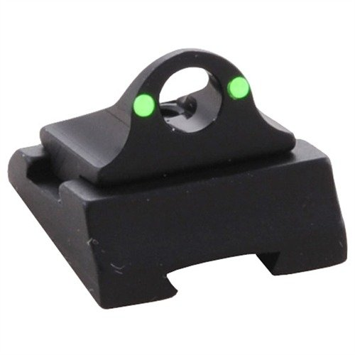Rifle Adjustable Fiber Ghost Ring Rear Sight Green