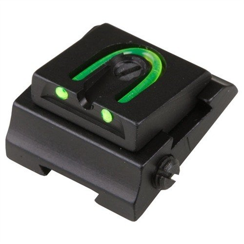 "Rifle Adjustable Fiber Optic 1/4"" WGOS Rear Sight Green"