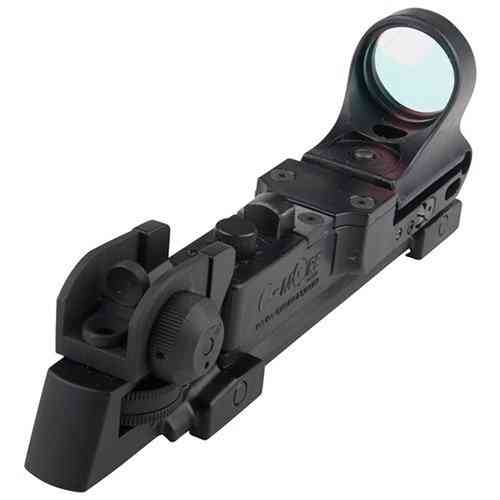 Tactical Polymer Red Dot Sight 4 MOA Click Switch Black